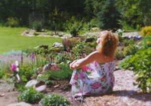 Garden at blue house 1994 x-1