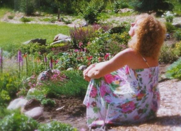 Judy in Garden